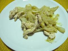 Pollo e finocchi con limone e origano