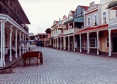 Tauranga New Zealand Historic Village quiet street view 1991