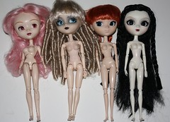 Pullip bodies comparison (pullip_junk) Tags: pullip type3 type1 type2 type4 bodycomparison