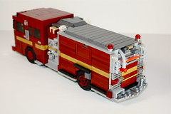 R134 (Ricecracker.) Tags: rescue house toronto ontario canada station truck fire lego fig district chief engine mini service van department 134 pumper moc minifigscale