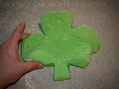 st patricks day green pizza dough shamrock