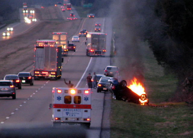 I-24 car fire