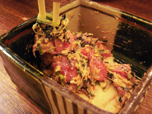 Maguro natto at Jinkichi