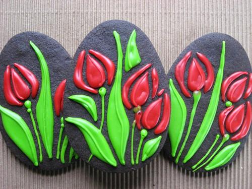Spring Tulips Easter Cookies