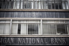 National Bank - 22Jun09, Detroit (USA) (philippe leroyer) Tags: urban broken window word decay michigan detroit bank national abandon depression economic economy fentre crisis abandonned urbain cass bris dcrpitude crise banque banquenationale dpression dcrpit conomie conomique michigannationalbank