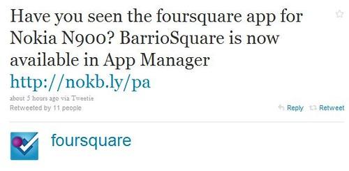 Foursquare_Tweet