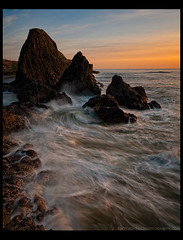 Rocky Coast (Lance Rudge) Tags: sunset beach oregon landscape nikon colorful northwest rocky rugged d3 seastacks 1735 centraloregoncoast bwnd lancerudge