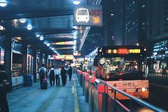 Stop (a l e x . k) Tags: guangzhou bus film night pentax stop brt 廣州 supera fa43mmf19
