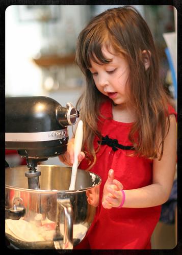Mixing Sugar and lard