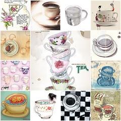 A cup of illustration II (Raincloud) Tags: art cup coffee illustration tea mosaic