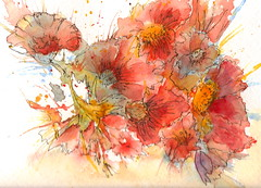 FUN BLOOMS (Louise001) Tags: flowers abstract art floral ink watercolor artist creative anawesomeshot