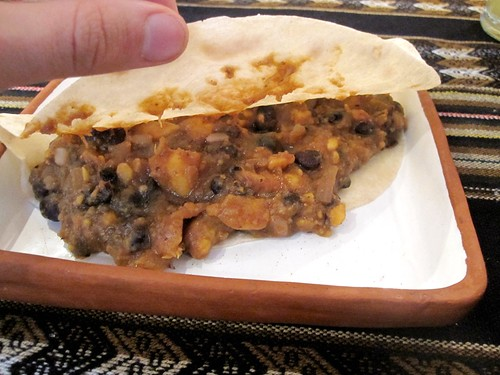 Black Bean and Sweet Potato Burrito