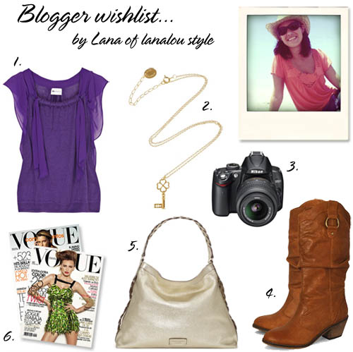 Blogger wishlist- Lana