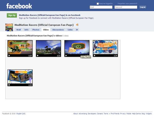 ModNation Racers Facebook - Videos