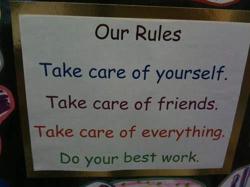 Our rules (Maria Knee's kindergarten class)