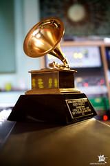 Behind a Grammy