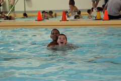 AJ and Adonis at the Lied Center pool.