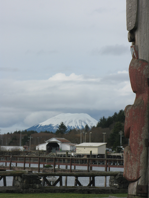 Mount Edgecumbe from Totem Square, Sitka, Alaska