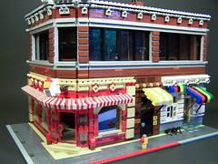Chuck's Clucks Corner (Dave Shaddix) Tags: chicken bar lego pooltable cafecorner chucksclucks theloosespoke thebrownstud