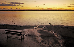 sunset leak (ssj_george) Tags: sunset sky orange tower water clouds bench lens landscape lumix airport view purple sundown horizon cyprus panasonic saltlake pancake 20mm leak dmc larnaca f17 gf1  georgestavrinos   ssjgeorge