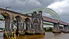 Ethelfleda Bridge & Jubilee Bridge (Nick Wilkinson, Merseyside) Tags: bridge rail hdr runcorn widnes britanniabridge ethelfledabridge