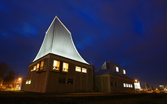Utzon Centre (Olemik) Tags: longexposure lines architecture night denmark perspective bluehour ultrawide aalborg 2010 utzon sigma1020 utzoncentre sigma1020f35exdc