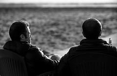 Friendship and beer (Francesco Saverio Fienga) Tags: winter friends sea bw sun beach beer canon mare friendship bn napoli sole amici inverno birra amicizia spiaggia capomiseno 5dmarkii francescosaveriofienga theauthorsplaza theauthorsclub