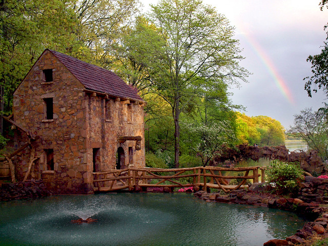 Old Mill and a rainbow