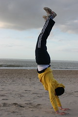 Holland 2010(Training) (Gianluca1996) Tags: holidays lazy roll handstand vault parcour nieuwvliet