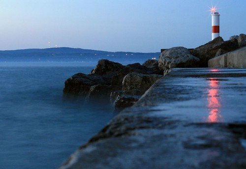breakwall at dusk