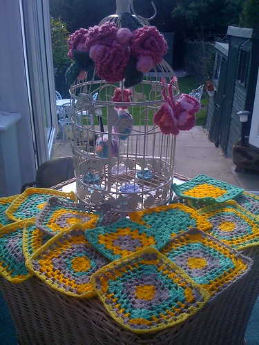 Bird Cage and bonvillespics Squares! Great fun today thank you!