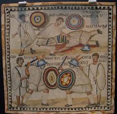 Mosaico de gladiadores (Magdalena Zambrano) Tags: roma mosaico gladiador