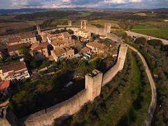 Monteriggioni aerial view I - R008 (opaxir) Tags: italy bap aerial medieval tuscany kap toscana monteriggioni
