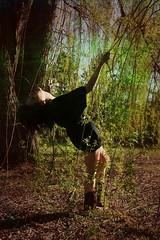 mariella. (karrah.kobus) Tags: black green nature girl hair lyrics holding willow trust mysterious wardrobe leaning tees