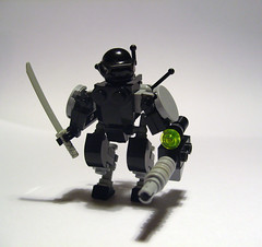 Powered Suit Tengu (bionicbadboi) Tags: robot lego ninja space shinobi landmate hardsuit blacktron ubermann fadmasher