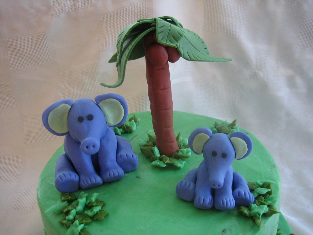 Animal Baby Shower Cake