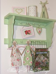 New Tilda angels (*ShabbyRosesCottage*) Tags: pink green shelf darla regal greengate tanyawhelan
