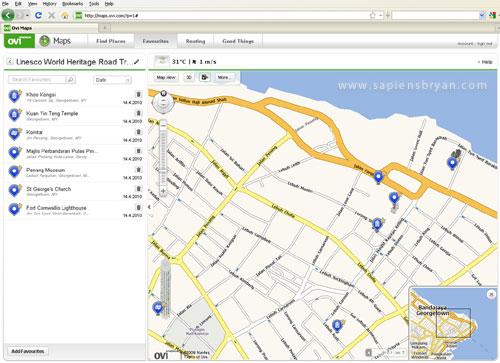 Ovi Maps Web