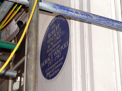 Photo of Robert Walpole and Horace Walpole blue plaque