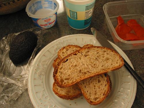 assembling sandwiches
