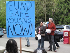 Safe housing rally @ City Hall
