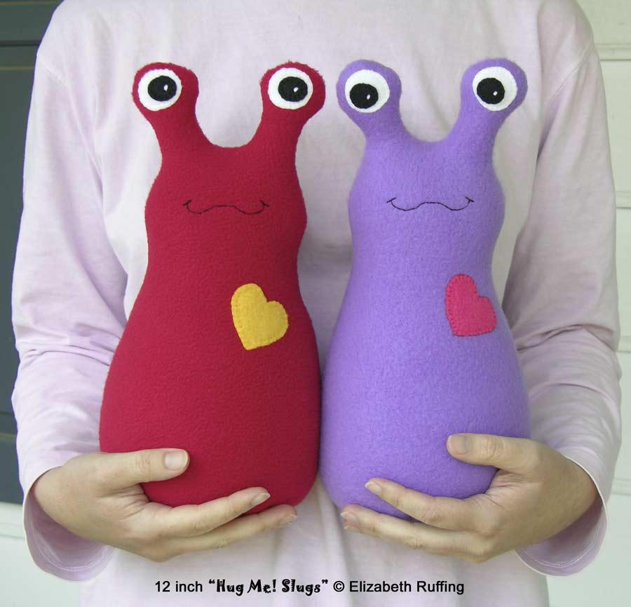 12 inch fleece Hug Me! Slugs