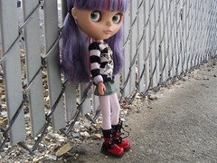 Syd waiting for the bus.