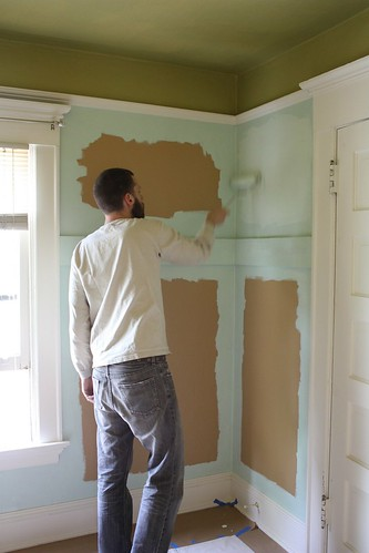Patrick Painting the Nursery