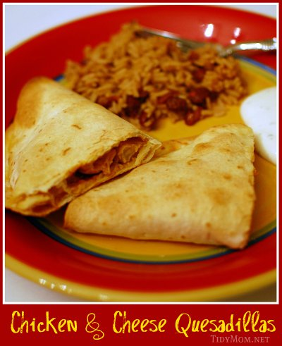 how to make chicken and cheese quesadillas