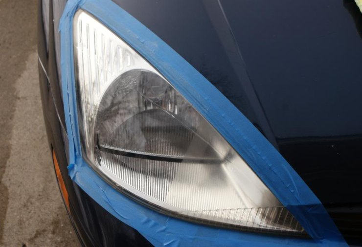 Clear head-lamps after polishing