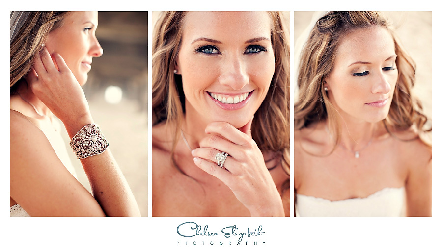 Manhattan beach pier bride headshots and jewelry