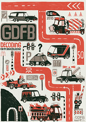 GDFB posterproject (hedof) Tags: signs streets cars poster firetruck breda trafficsigns blackandred decoding gdfb graphicdesignfestivalbreda hedof