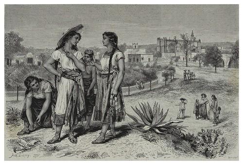 011-Jovenes de Tula-Mexico-Les Anciennes Villes du nouveau monde-1885- Désiré Charnay