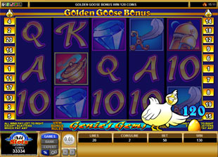 free Golden Goose Genie's Gems gamble bonus game